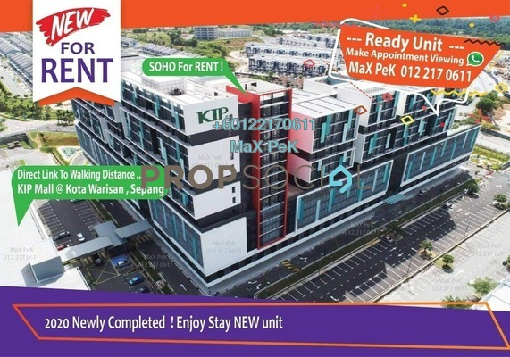 Condominium For Rent in Core SoHo Suites, Sepang Freehold Fully Furnished 1R/1B 1.2k