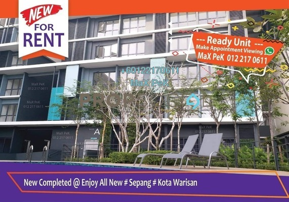 Condominium For Rent in Core SoHo Suites, Sepang Freehold Fully Furnished 1R/1B 1.3k