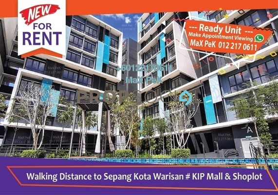 Condominium For Rent in Core SoHo Suites, Sepang Freehold Semi Furnished 1R/1B 1.1k
