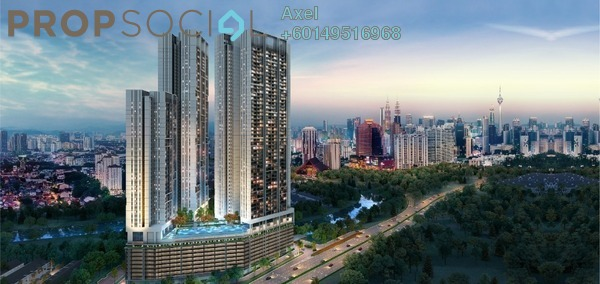 Condominium For Sale in Duta Park Residences, Jalan Ipoh Freehold Semi Furnished 3R/2B 729k