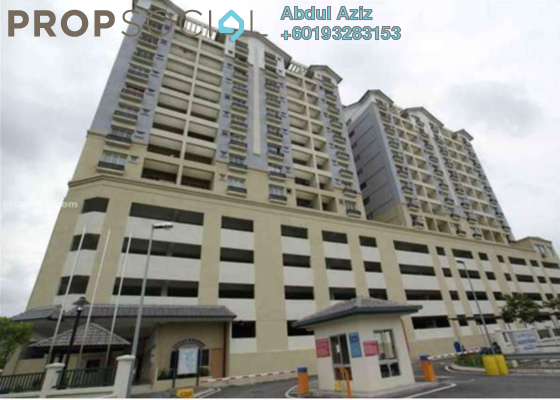 Apartment For Sale in Persanda 3 Apartment, Shah Alam Freehold Unfurnished 3R/2B 350k