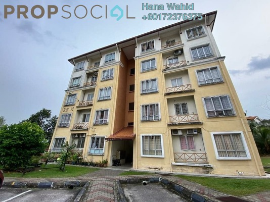 Apartment For Sale in Seroja Apartment, Bukit Jelutong Freehold Unfurnished 3R/2B 285k