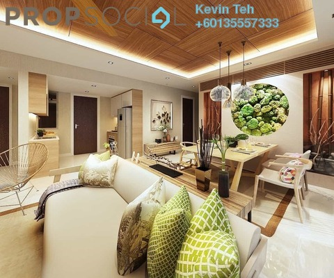 Condominium For Sale in Unio Residence, Kepong Freehold Semi Furnished 2R/2B 640k