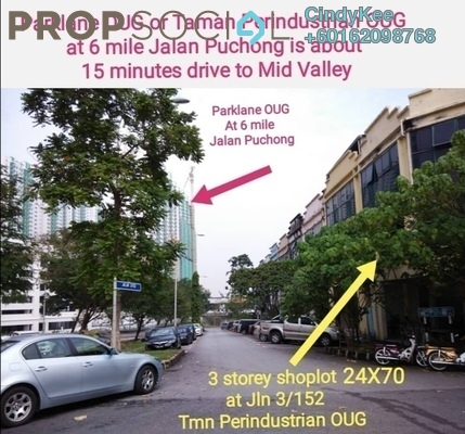 Shop For Sale in Taman Perindustrian OUG, Old Klang Road Freehold Semi Furnished 0R/0B 2m