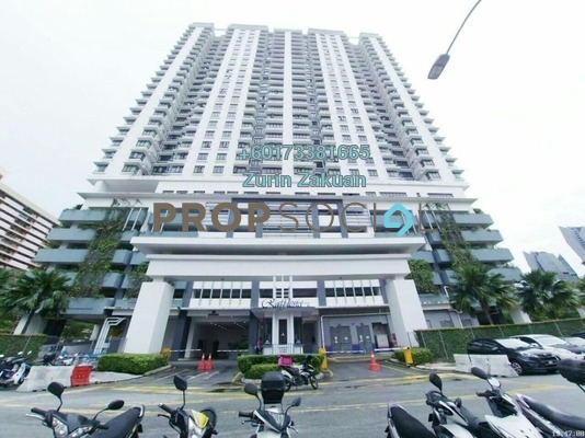 Condominium For Sale in Sentul Rafflesia, Sentul Freehold Semi Furnished 4R/3B 550k
