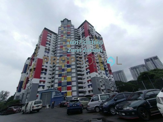 Apartment For Sale in Gombak Setia, Gombak Freehold Semi Furnished 2R/1B 180k