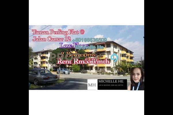 Apartment For Rent in Taman Perling, Iskandar Puteri (Nusajaya) Freehold Unfurnished 2R/1B 550translationmissing:en.pricing.unit
