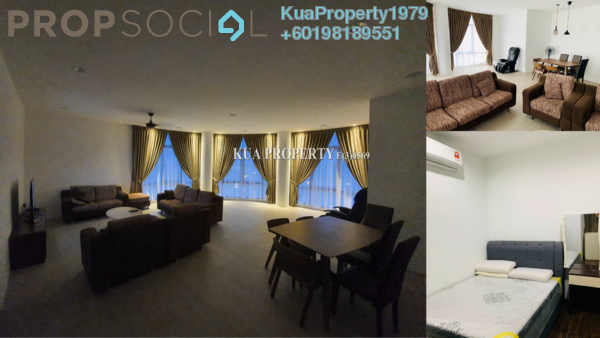 Apartment For Rent in REX Apartment @ BDC, Kuching Freehold Fully Furnished 2R/1B 1.7k