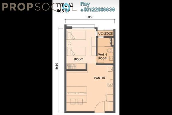 SoHo/Studio For Sale in Union Suites, Bandar Sunway Leasehold Fully Furnished 1R/1B 450k
