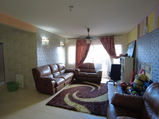 Apartment For Sale in Metro Prima, Kepong Freehold Fully Furnished 4R/2B 400k