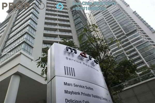 SoHo/Studio For Sale in Marc Service Residence, KLCC Freehold Fully Furnished 0R/1B 750k