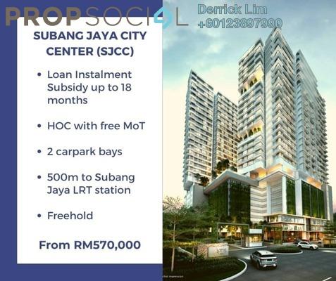 Condominium For Sale in Lot 15, Subang Jaya Freehold Semi Furnished 2R/1B 570k