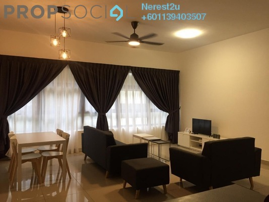 Condominium For Rent in Lakeville Residence, Jalan Ipoh Freehold Semi Furnished 3R/2B 1.6k