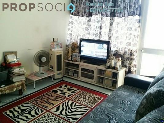 Apartment For Sale in Taman Bunga Merah Apartment, Sungai Nibong Freehold Semi Furnished 3R/2B 280k