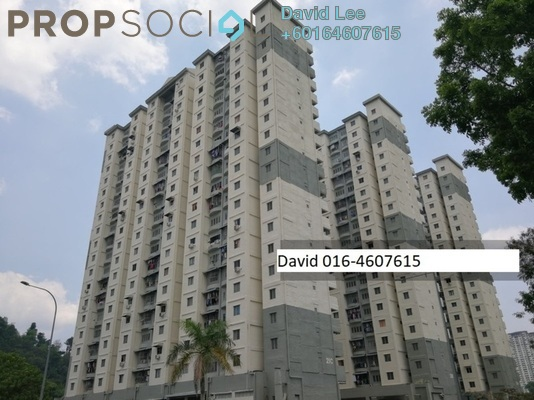 Apartment For Sale in Majestic Heights, Paya Terubong Freehold Unfurnished 3R/1B 195k