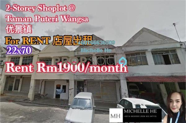 Shop For Rent in Taman Puteri Wangsa, Ulu Tiram Freehold Unfurnished 0R/2B 1.9k