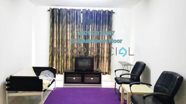 Apartment For Rent in Section 7, Shah Alam Freehold Fully Furnished 3R/2B 1.2k