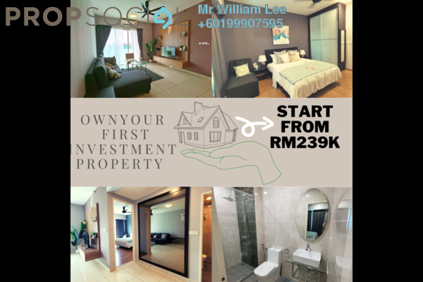 Condominium For Sale in Greentown Business Centre, Ipoh Freehold Unfurnished 22R/2B 239k
