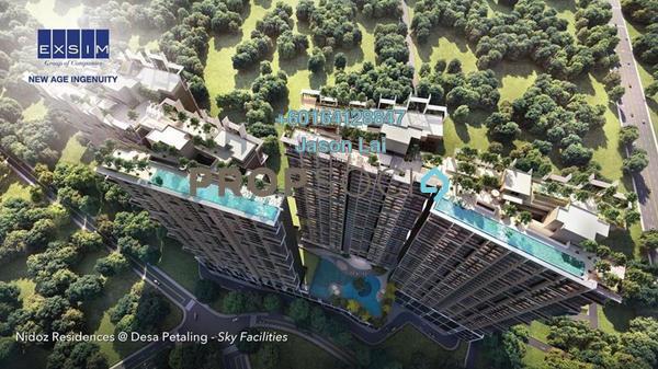 Condominium For Sale in Nidoz Residences, Desa Petaling Freehold Semi Furnished 4R/2B 730k