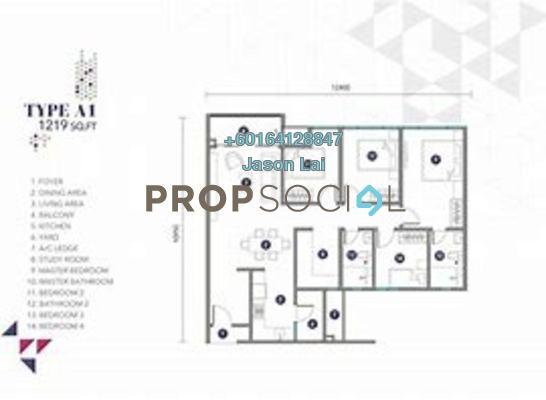 Condominium For Rent in Nidoz Residences, Desa Petaling Freehold Semi Furnished 4R/2B 2.2k