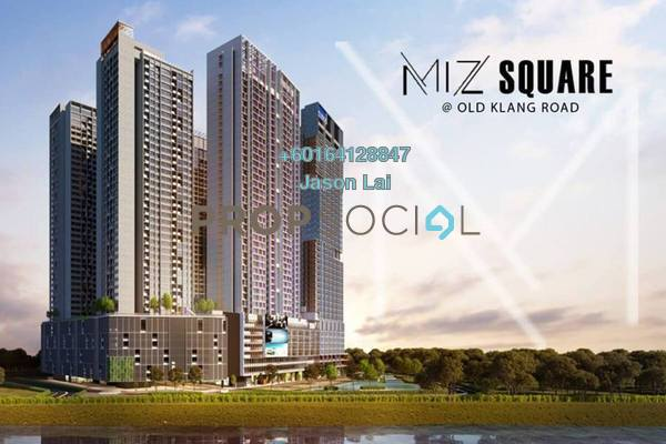 Condominium For Sale in Millerz Square, Old Klang Road Freehold Semi Furnished 3R/2B 680k