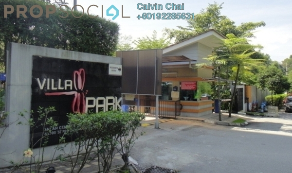 Condominium For Sale in Villa Park, Seri Kembangan Freehold Semi Furnished 4R/2B 550k