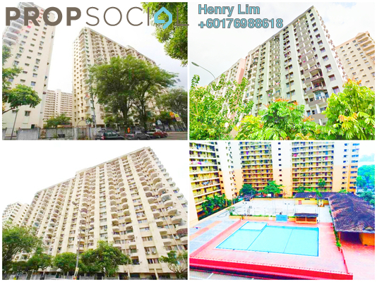 Condominium For Sale in Palm Court, Brickfields Freehold Semi Furnished 3R/2B 520k
