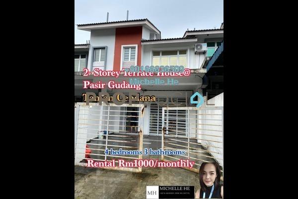 Terrace For Rent in Taman Cendana, Pasir Gudang Freehold Semi Furnished 4R/3B 1k