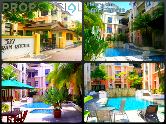 Duplex For Rent in 327 Persiaran Ritchie, Ampang Hilir Freehold Semi Furnished 3R/3B 10k