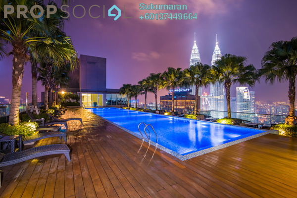Condominium For Rent in Quadro Residences, KLCC Freehold Semi Furnished 5R/4B 7.9k