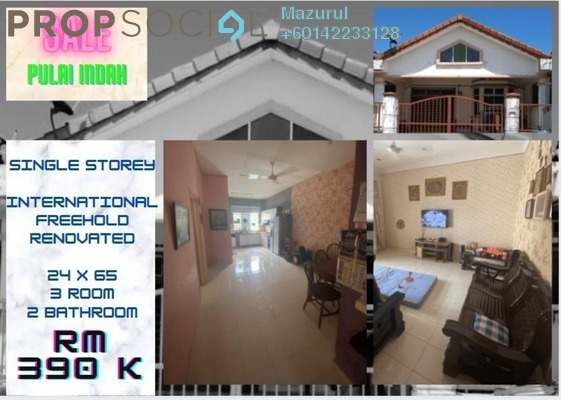 Terrace For Sale in Taman Pulai Indah, Pulai Freehold Semi Furnished 4R/3B 390k