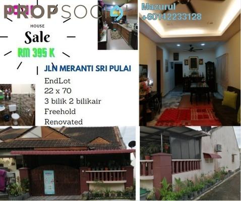 Terrace For Sale in Taman Sri Pulai, Pulai Freehold Semi Furnished 3R/2B 395k