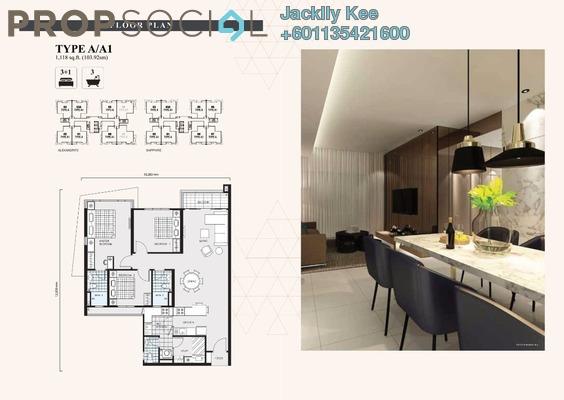 Condominium For Sale in The Address, Taman Desa Freehold Semi Furnished 3R/3B 703k