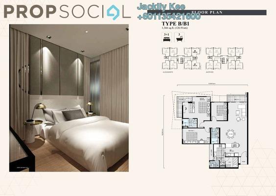 Condominium For Sale in The Address, Taman Desa Freehold Semi Furnished 3R/3B 780k