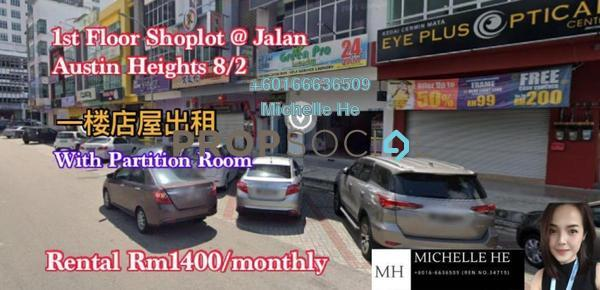 Shop For Rent in Taman Austin Heights, Tebrau Freehold Unfurnished 0R/2B 1.4k