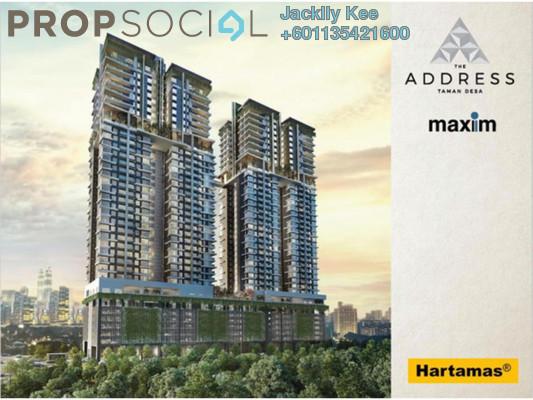 Condominium For Sale in The Address, Taman Desa Freehold Semi Furnished 3R/3B 690k