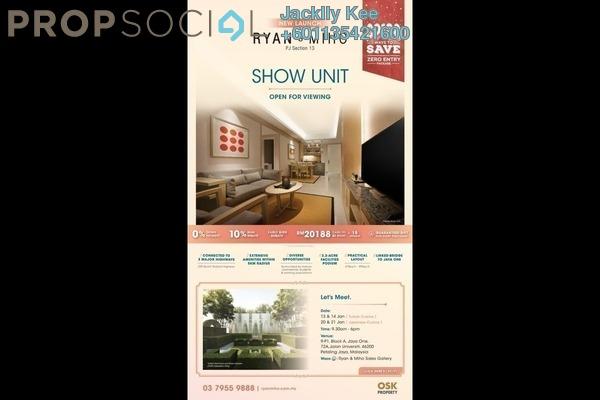 Condominium For Sale in Ryan & Miho, Petaling Jaya Freehold Semi Furnished 3R/2B 0translationmissing:en.pricing.unit