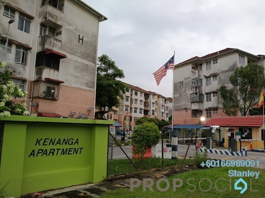 Apartment For Sale in Kenanga Apartment, Pusat Bandar Puchong Leasehold Unfurnished 3R/2B 188k
