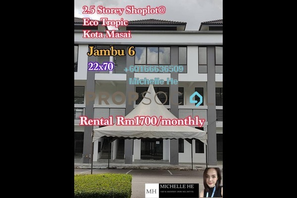 Shop For Rent in Eco Tropics, Pasir Gudang Freehold Unfurnished 0R/0B 1.7k