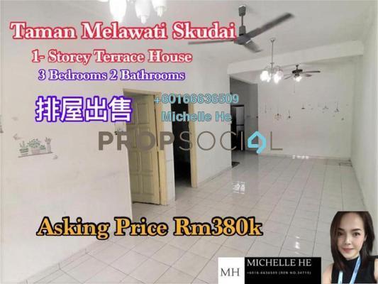 Terrace For Sale in Taman Melawati, Skudai Freehold Unfurnished 3R/2B 380k