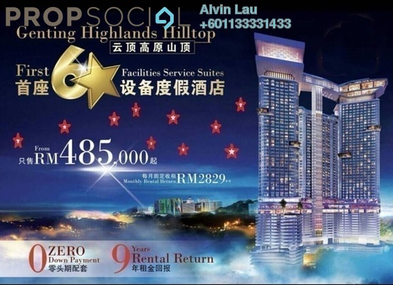 Condominium For Sale in Grand Ion Majestic, Genting Highlands Freehold Fully Furnished 1R/1B 450k