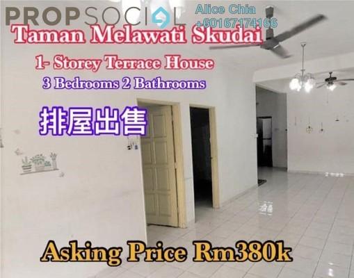 Terrace For Sale in Taman Melawati, Skudai Freehold Semi Furnished 3R/2B 380k