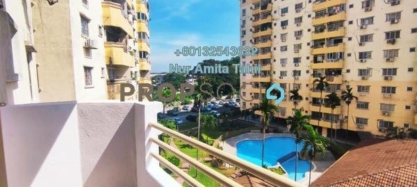 Apartment For Rent in Pangsapuri Jati 2, Subang Jaya Freehold Unfurnished 3R/2B 1.2k
