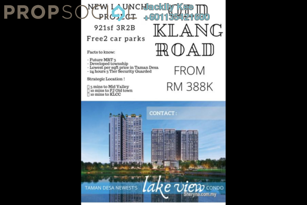 Condominium For Sale in The Hipster, Taman Desa Freehold Unfurnished 3R/2B 415k