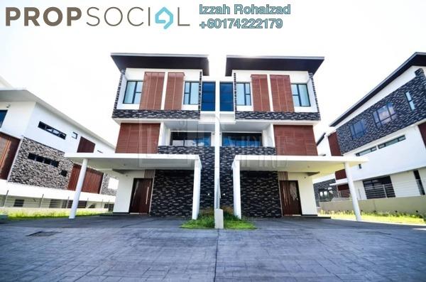 Semi-Detached For Sale in Hijauan Enklaf, Setia Alam Freehold Unfurnished 6R/6B 2.88m