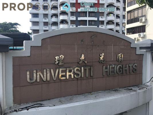 Condominium For Sale in University Heights, Sungai Dua Freehold Semi Furnished 3R/2B 440k
