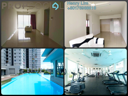 Serviced Residence For Rent in Maxim Residences, Cheras Freehold Semi Furnished 3R/2B 1.3k