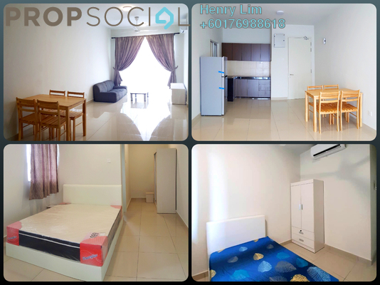 Serviced Residence For Rent in Maxim Residences, Cheras Freehold Semi Furnished 2R/2B 1.5k