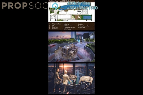 Condominium For Sale in 8th & Stellar, Sri Petaling Leasehold Semi Furnished 3R/2B 480k