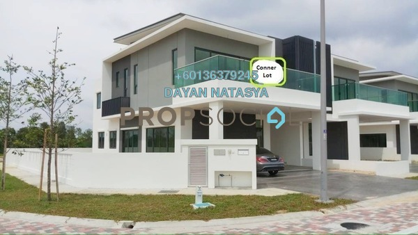 Semi-Detached For Sale in Corallia @ D'Island, Puchong Freehold Semi Furnished 6R/6B 2m